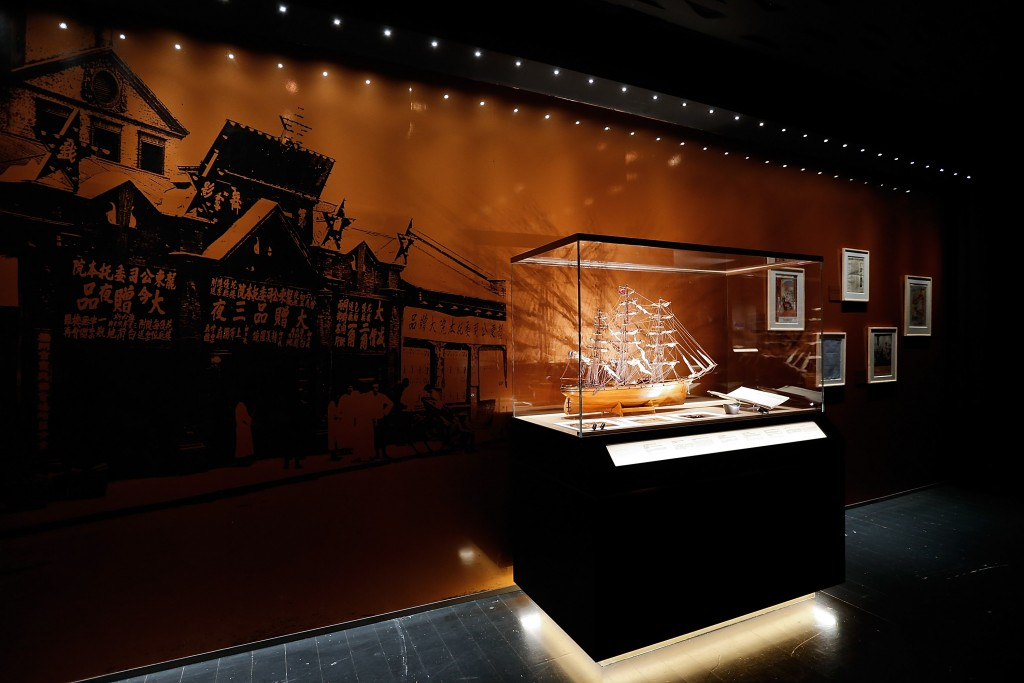 GUANGZHOU, CHINA - MARCH 17: Historic Hennessy artefacts at the Hennessy 250 Tour Exhibition during the Hennessy 250 Tour at the Zaha Hadid Opera House on March 17, 2015 in Guangzhou, China.  (Photo by Lintao Zhang/Getty Images)