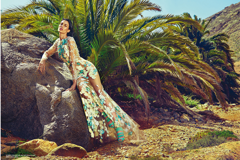 Vestido Alfredo Villalba | Sandalias Jimmy Choo