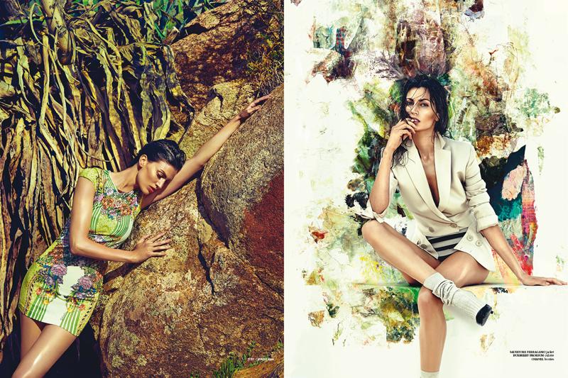 Izquierda: Vestido Just Cavalli | Derecha: Blazer Salvatore Ferragamo | Culotte Burberry Prorsum | Zapatos Chanel