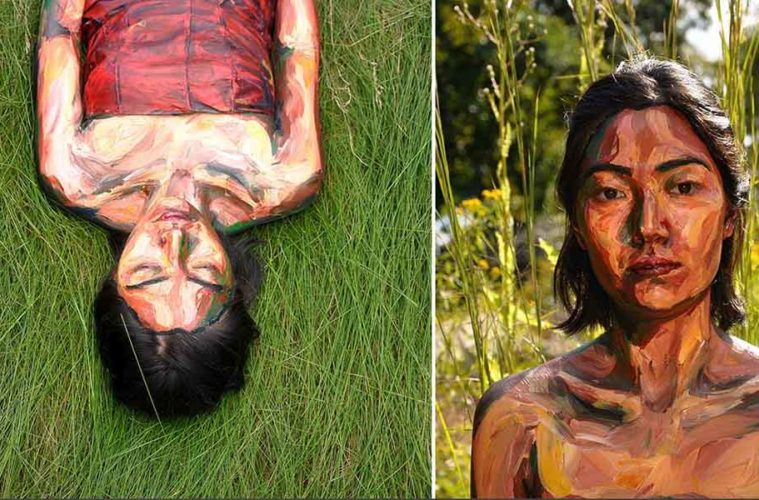 alexa meade, body painting, arte y diseño, magazine horse