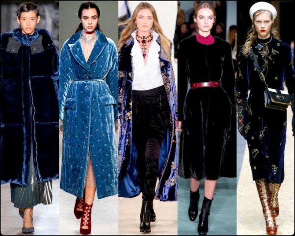 terciopelo, velvet, abrigos, trend, tendencia, fall 2016, otoño 2016, invierno 2017