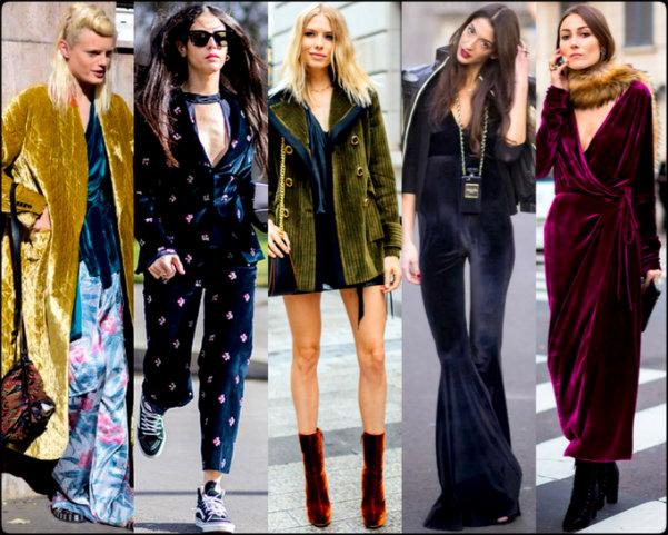 terciopelo, velvet, looks, streetstyle, trend, tendencia, fall 2016, otoño 2016, invierno 2017