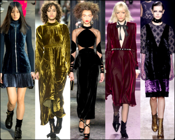 terciopelo, velvet, vestidos, trend, tendencia, fall 2016, otoño 2016, invierno 2017