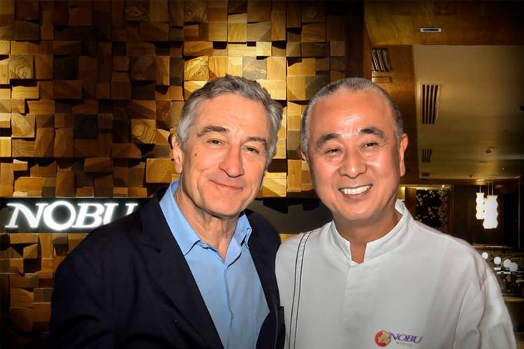 Robert de Niro y el Chef Nobu Matsuhisa
