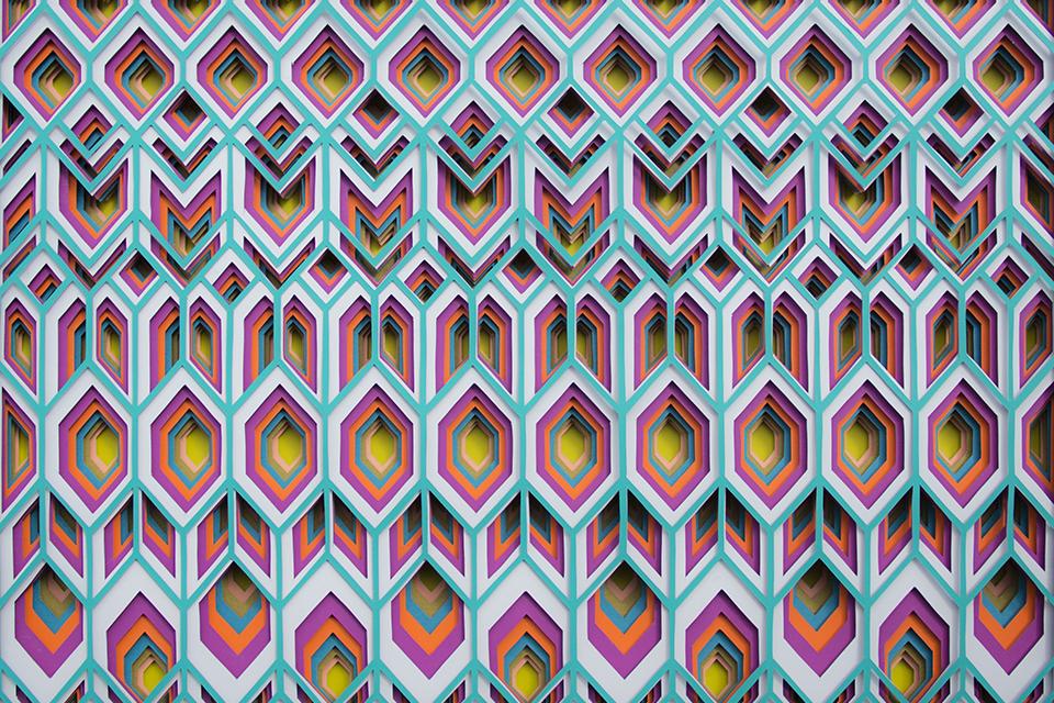 papel, alfombras de papel, Maud Vantours
