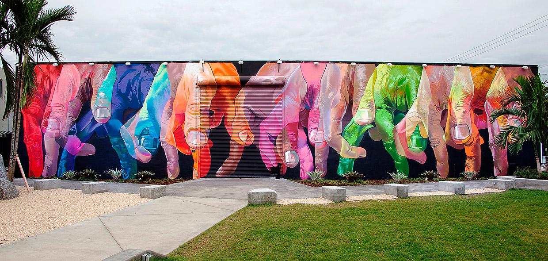 El mural del artista alemán Case