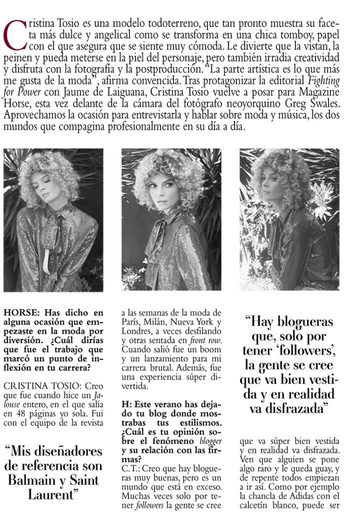 entrevista cristina tosio, entrevista de moda, cristina tosio, entrevista modelo, el ritmo de la moda, moda