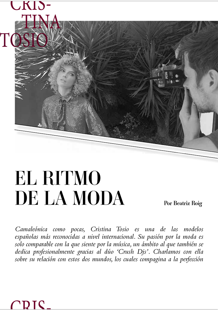 interview cristina tosio, cristina tosio, fashion interview, top model, model, fashion model, dj cristina tosio model