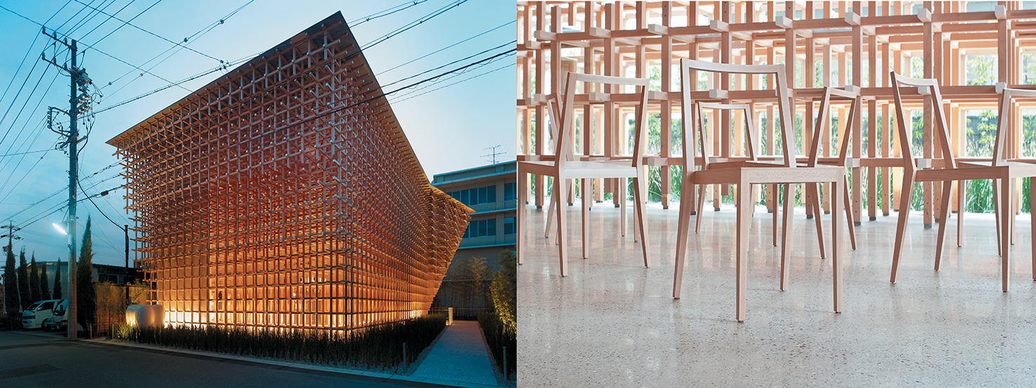 Architect Kengo Kuma: GC Prostho Museum Research Design Center (Japan, 2010) and GC Chair (2011)