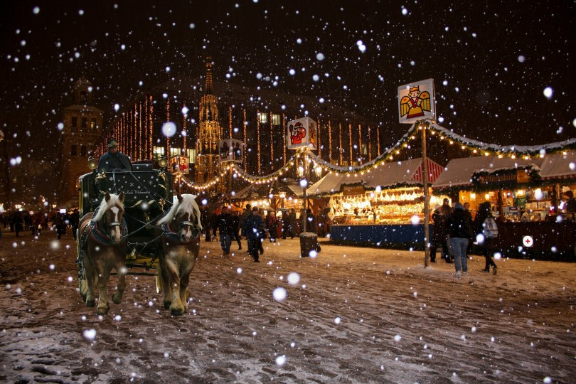 La gastronomía bávara y germana, las estrellas del Mercado navideño más grande de Alemania.