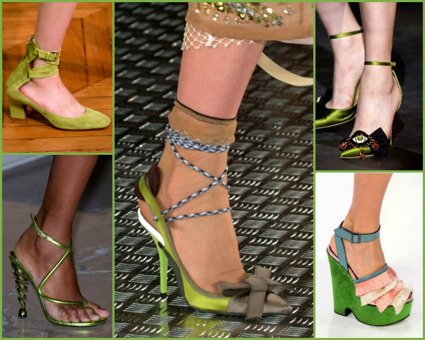 greenery, greenery shoes, greenery accessories, greenery zapatos, greenery looks, greenery pantone, pantone