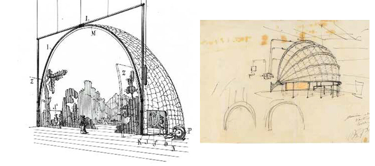 Photo. Studies for his Fortuny Dome