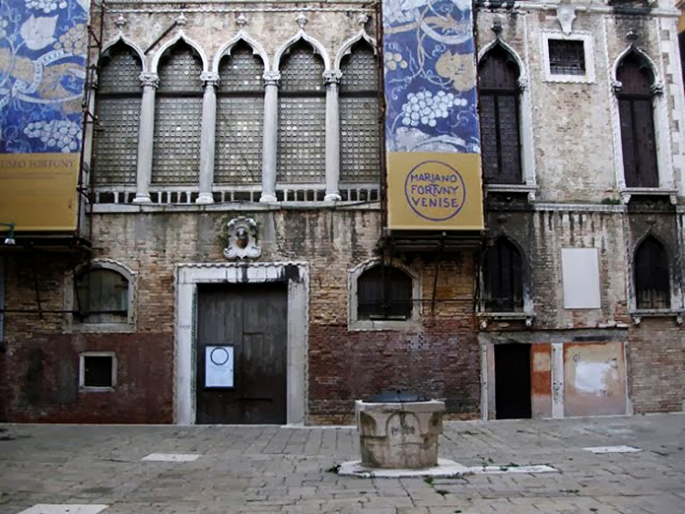 Main entrance of the Palazzo Orfei in Venice, the Fortuny Museum