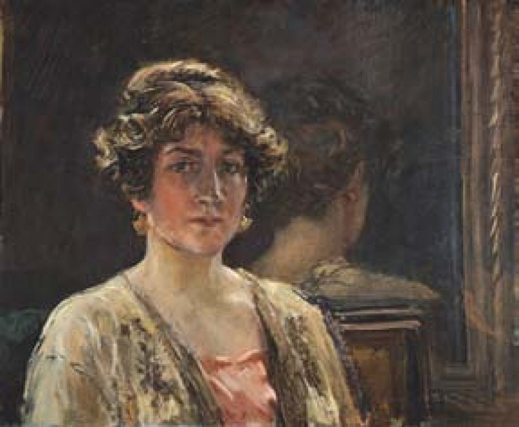Portrait he made to his wife, the designer Henriette Nigrin