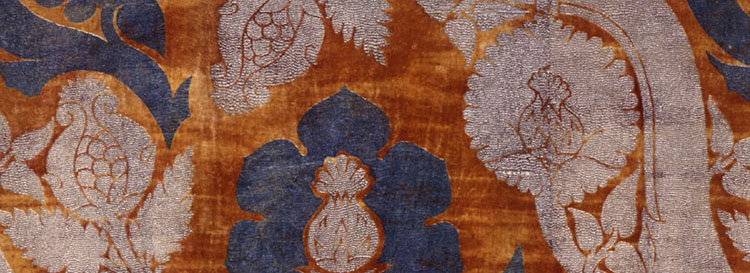 Historic fabric of the Fortuny collection
