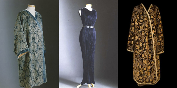 Haute couture models designed by Mariano Fortuny