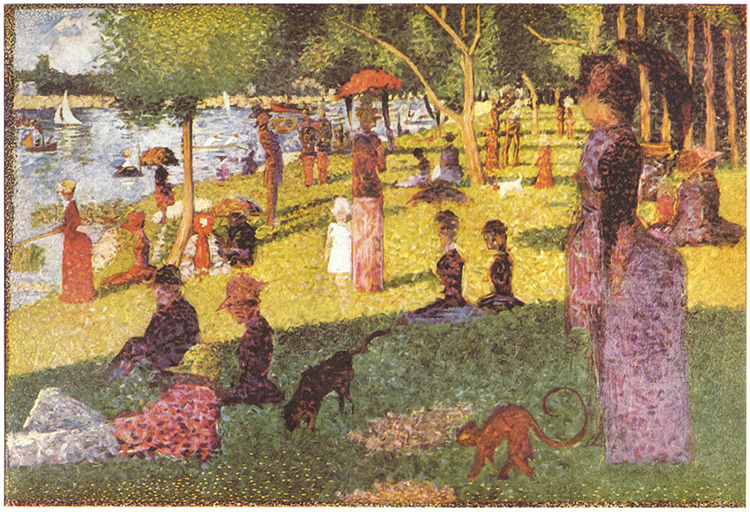 Estudio de Tarde de domingo en la Grand Jatte