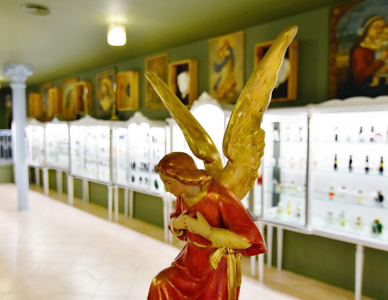 Detalle de la decoración de esta galería, que aúna lo moderno con lo antiguo y nostálgico