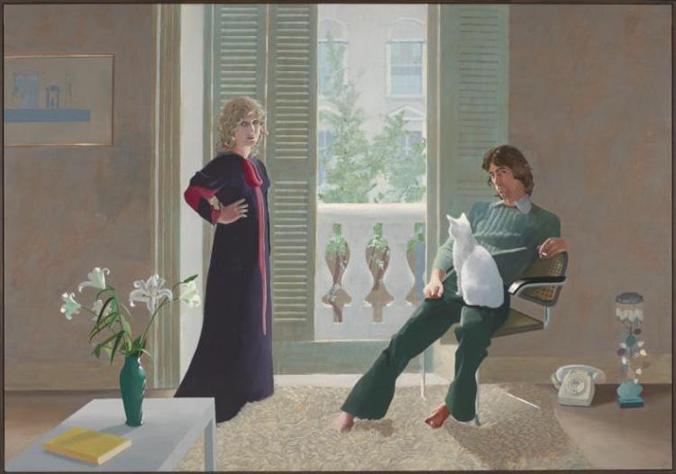 Mr and Mrs Clark and Percy, pintados en 1971 por Hockney