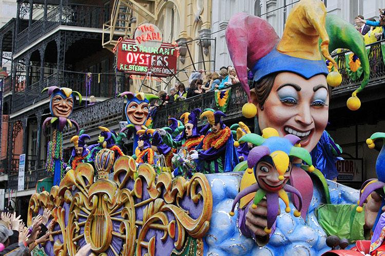 Carroza del Mardi Gras en Nueva Orleans
