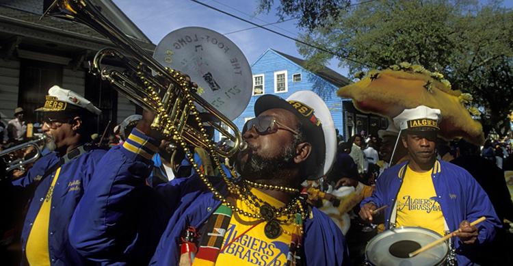 La música omnipresente en Nueva Orleans
