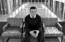 The founder of La Basílica Galeria, Piotr Rybaczek, on the top floor of the new store in