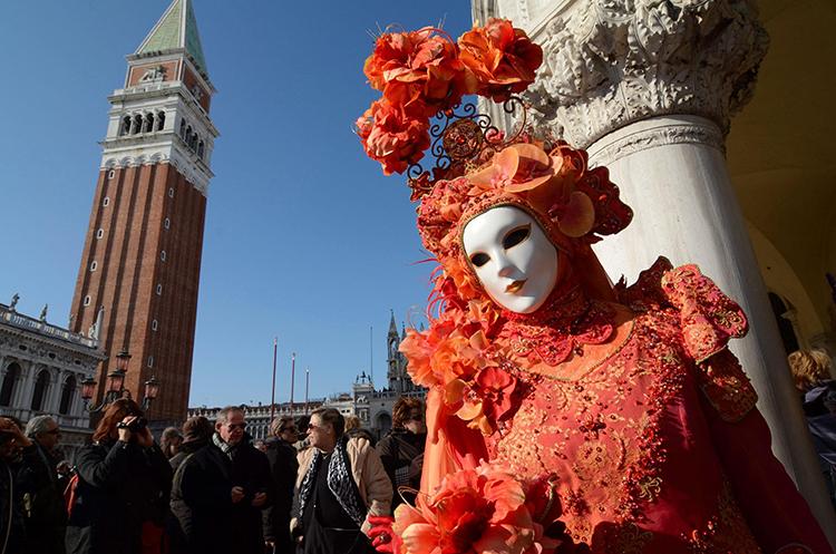 Estampa típica del Carnaval de Venecia