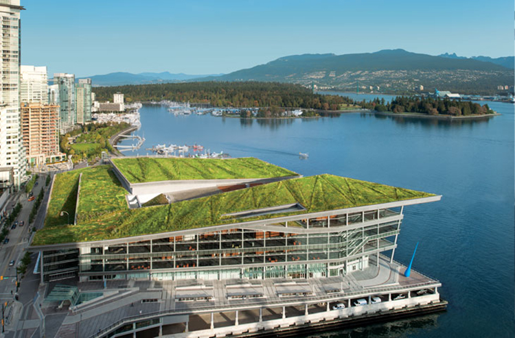 The sustainable architecture of the Vancouver Convention Center hosts the TED Conference