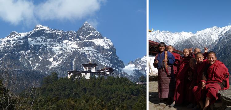 Dzong del distrito de Gasa y sus habitantes