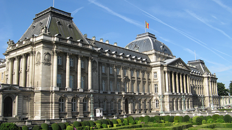 Aspecto monumental del Palacio Real de Bruselas