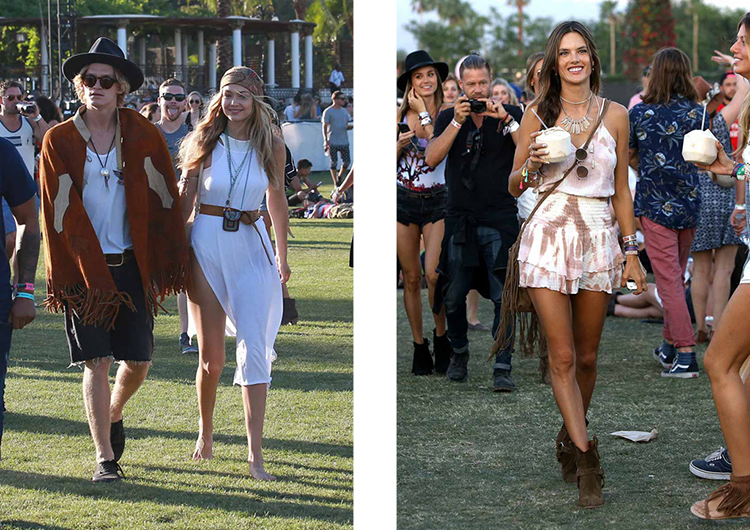 At times, the Coachella Festival is a parade full of fashion and celebrities
