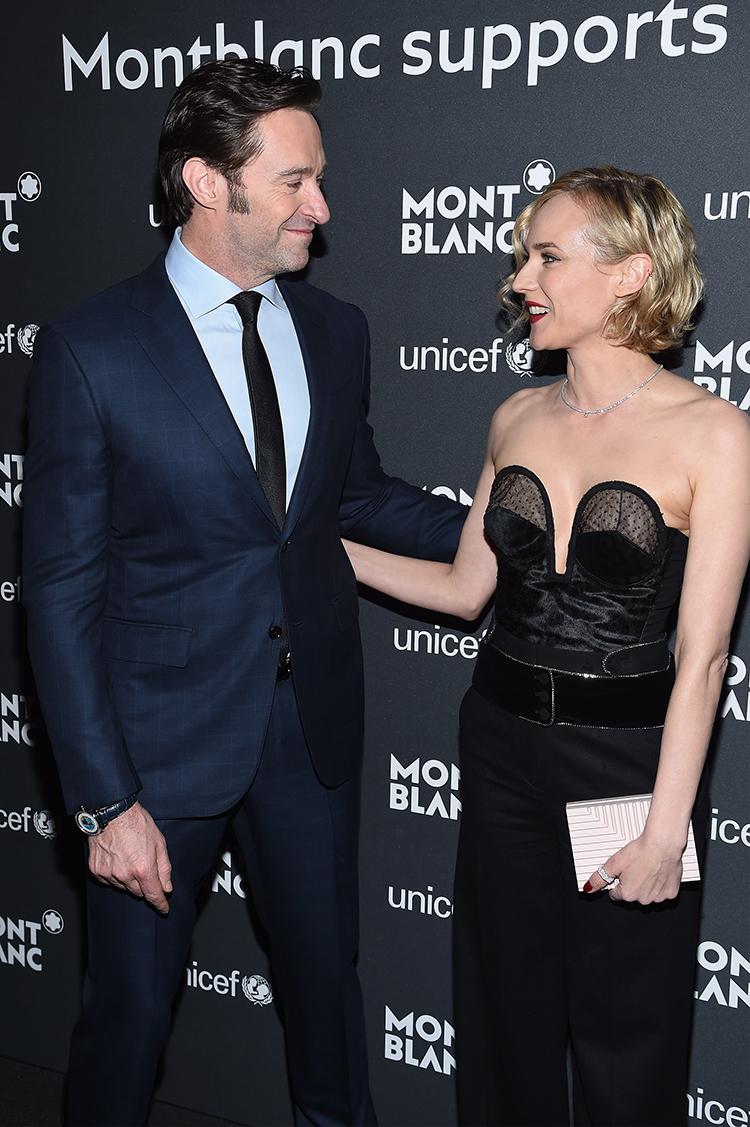 Hugh Jackman y Diane Kruger asistieron al acto