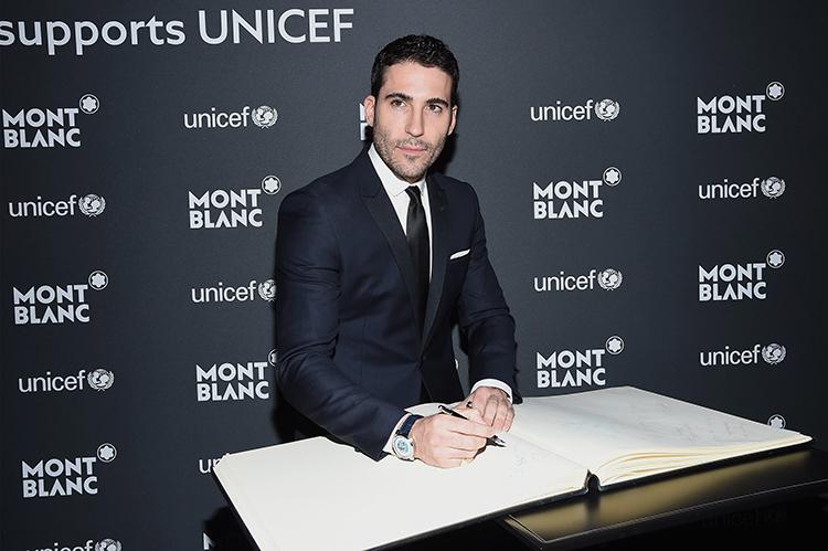 Miguel Ángel Silvestre, representante español en el acto de Montblanc y UNICEF