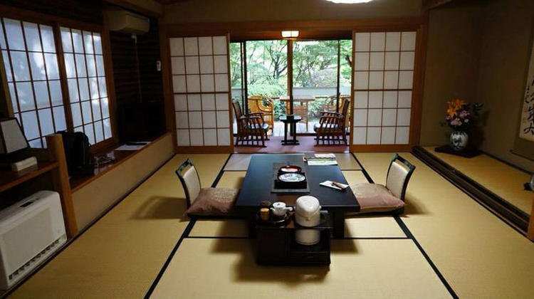 interior of a ryokan