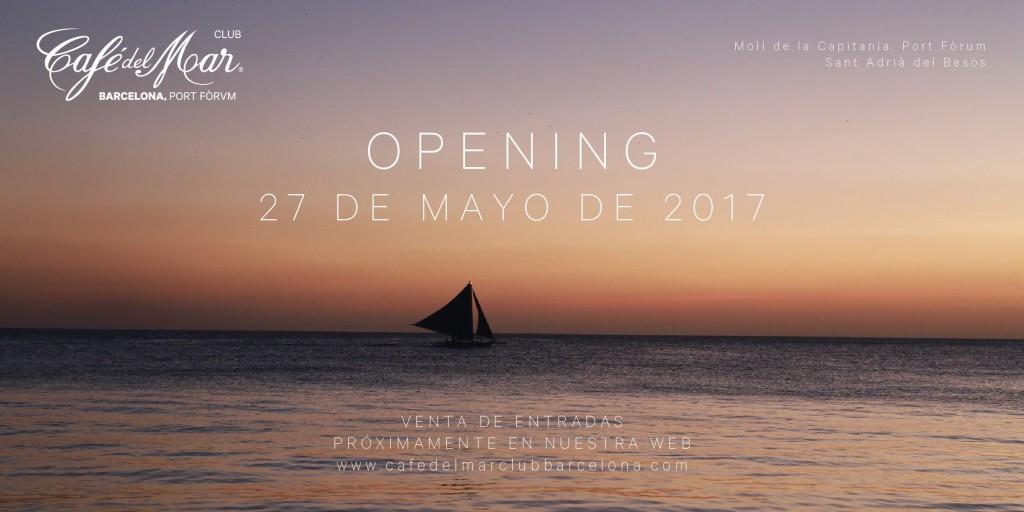 Opening Cafe del Mar Barcelona Port Forum
