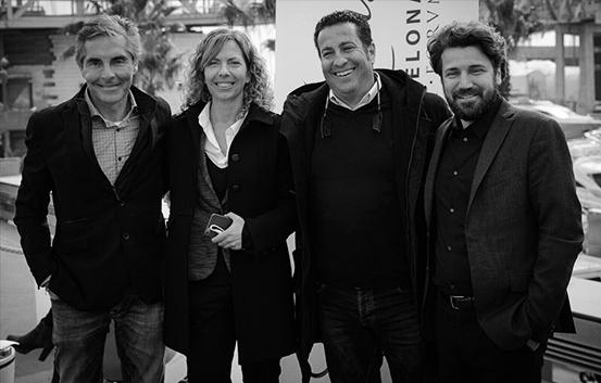 Equipo directivo de izquierda a derecha: David Talvy, Director General; Meritxell Lladó. Subdirectora; Nacho Soler, propietario de Café del Mar Club; y Thomas Royon, CCO.