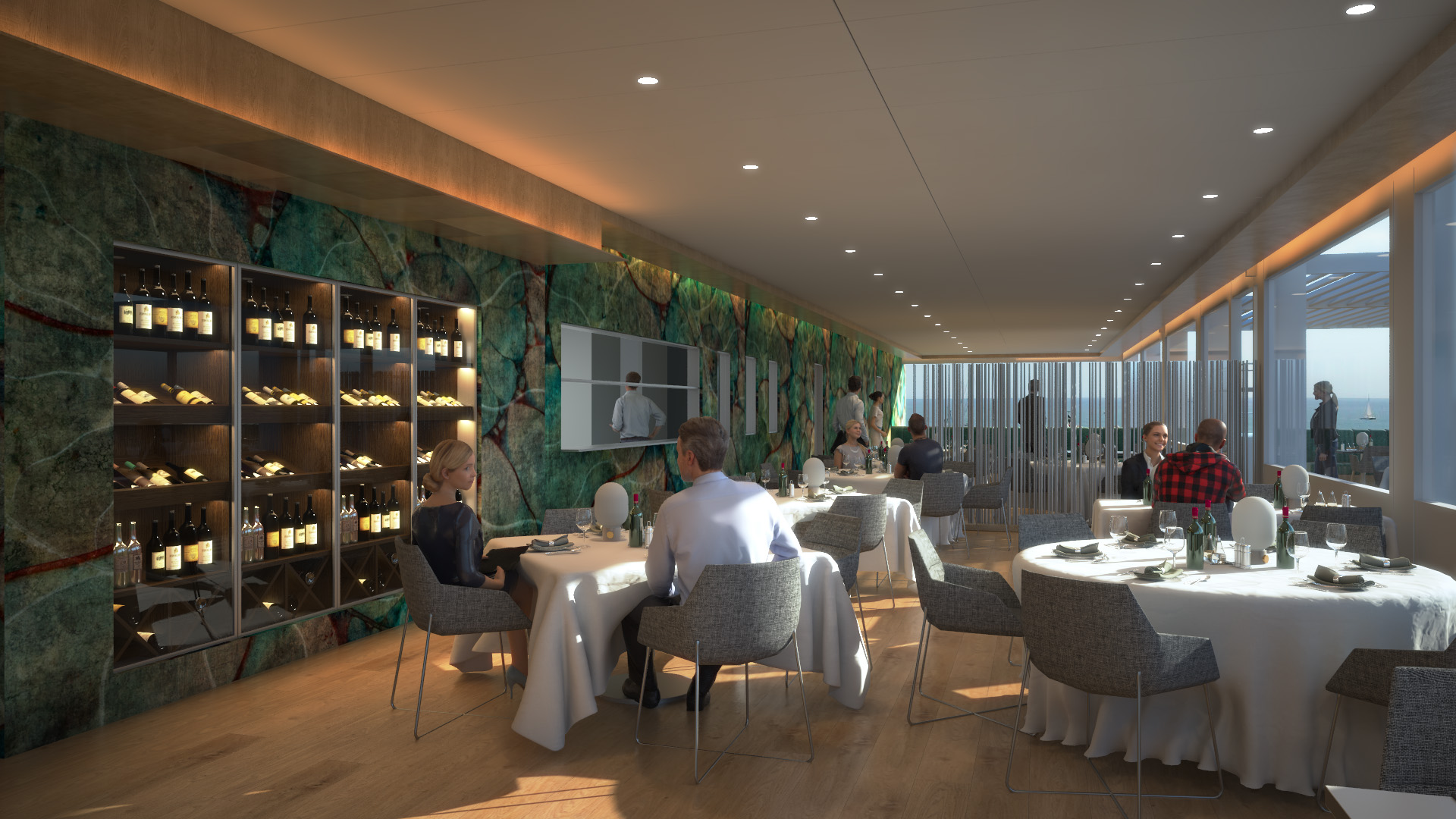 Restaurante Club Café del Mar Barcelona Port Fòrum