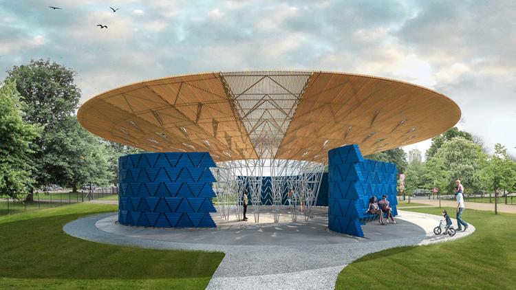 Este ha sido el proyecto ganador de Diébédo Francis Kére para construir el Serpentine Pavillion 2017