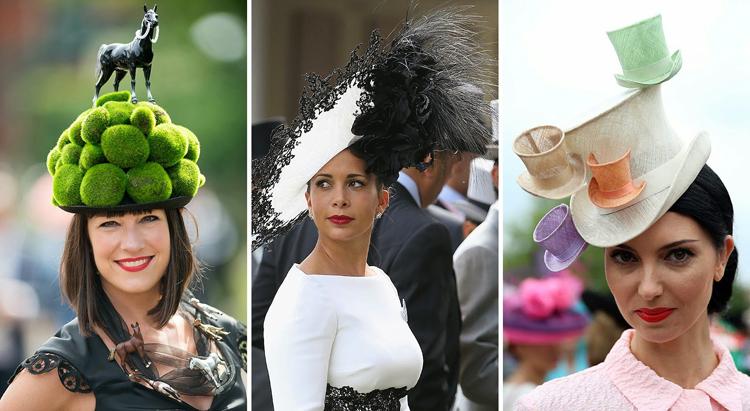 os grandes sombrereros de hoy, como Piers Atkinson, Philip Treacy o Jane Taylor, crear pamelas para las damas que acuden al hipódromo de Ascot