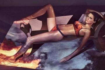 Kendall Jener para La Perla. Fotógrafo Steve Klein