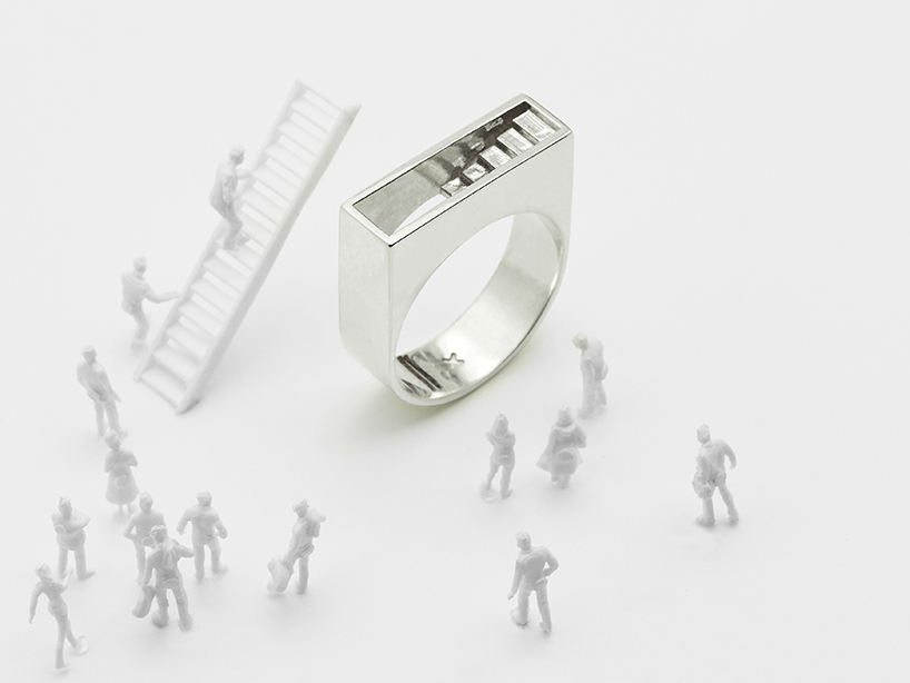 """""""Stair"""" ring is part of the architectural series Artur Dabrowski"""