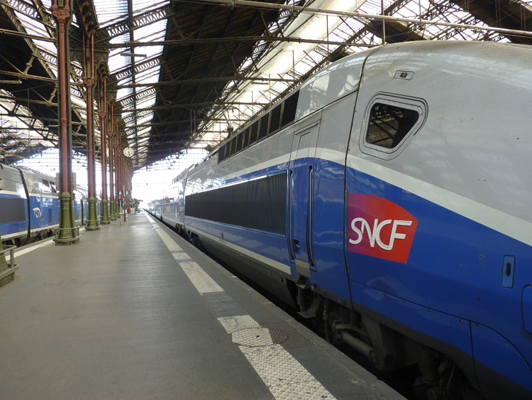 The modern TGV in the historic Gare de Lyon