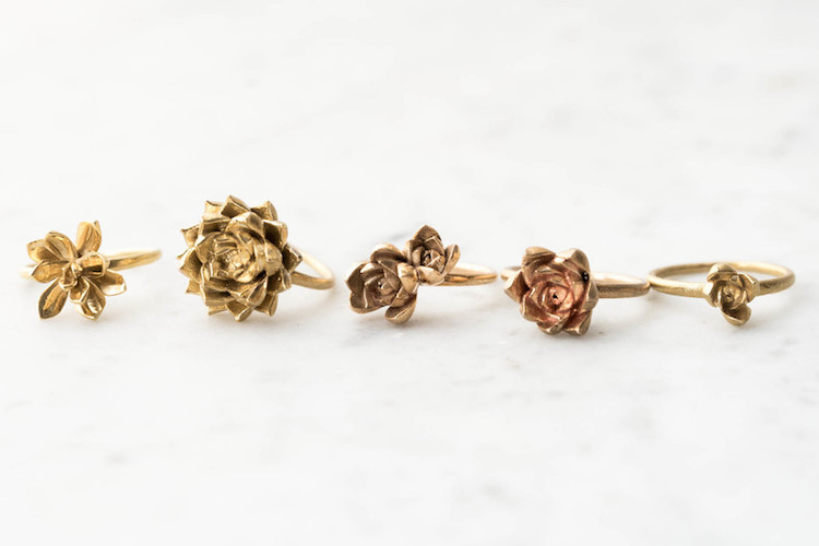 Succulent rings, from Collected Edition
