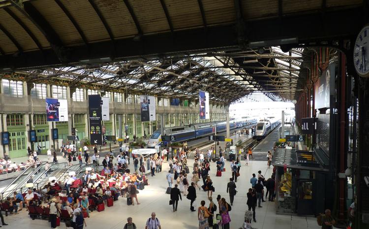 Vistas del vestíbulo de la Gare de Lyon desde el restaurante