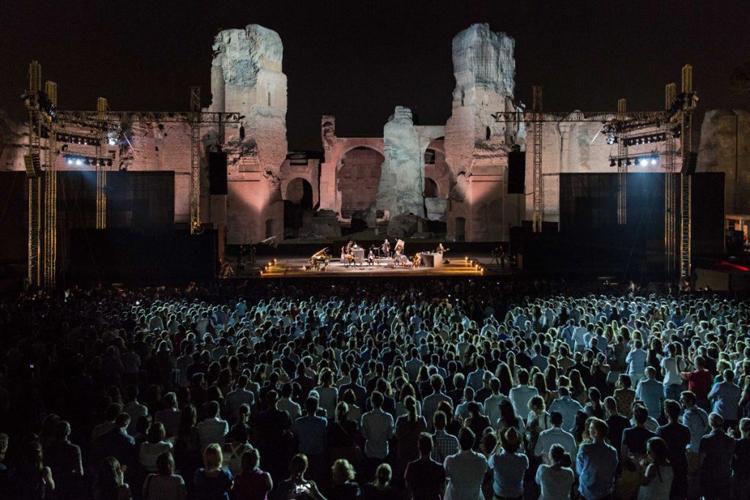 Suena la música en la termas romanas de Caracalla