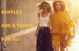 ruffles are a trend for all