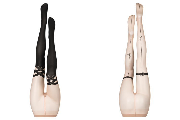 stockings designed by Marina Hoermanseder for Wolford.