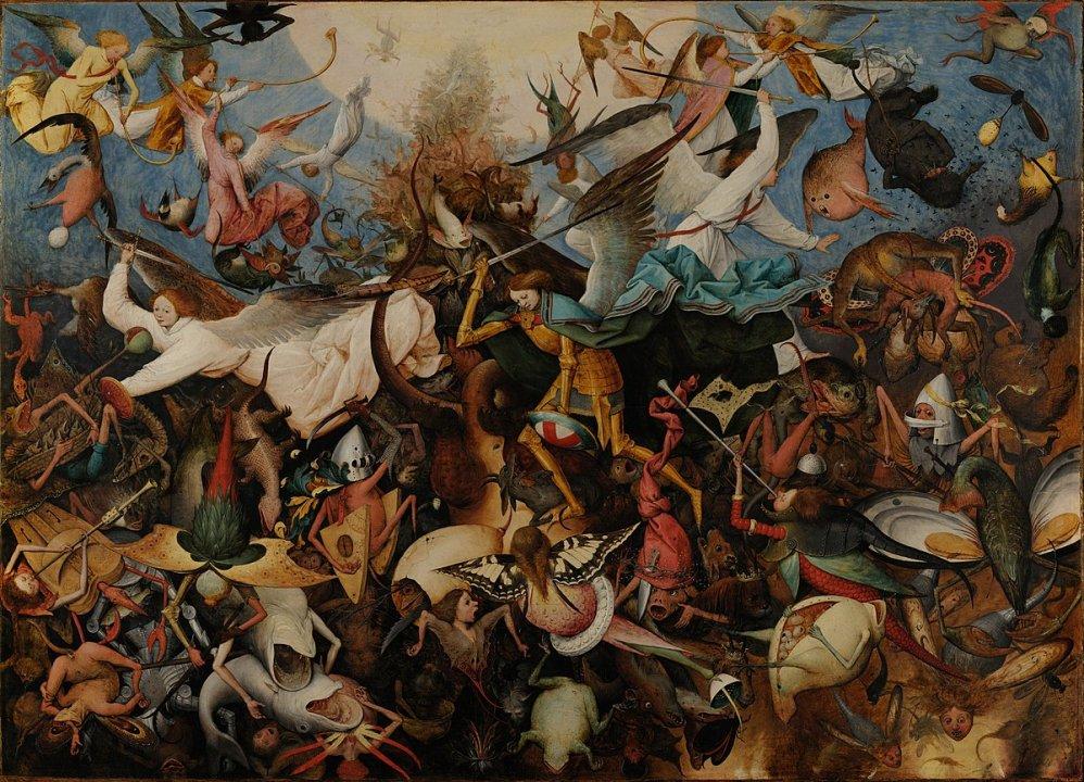 'La Caída de los Ángeles Rebeldes' de Pieter Brueghel 'El Viejo'.