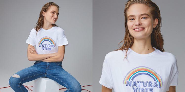 Camiseta de algodón 100% sostenible de Esprit