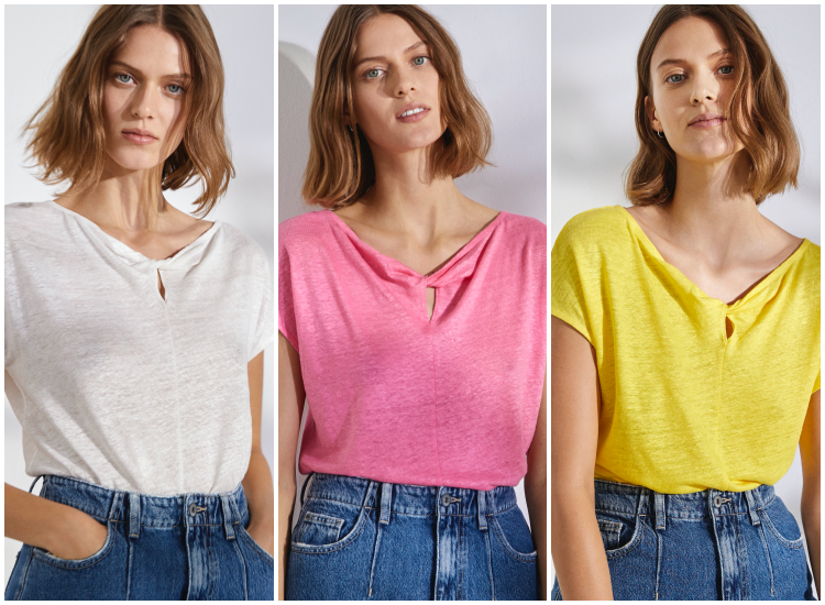 Camisetas de lino de Esprit